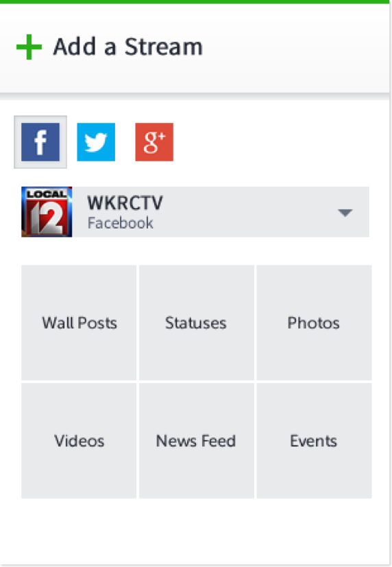 Social News Desk Add a Stream Feature