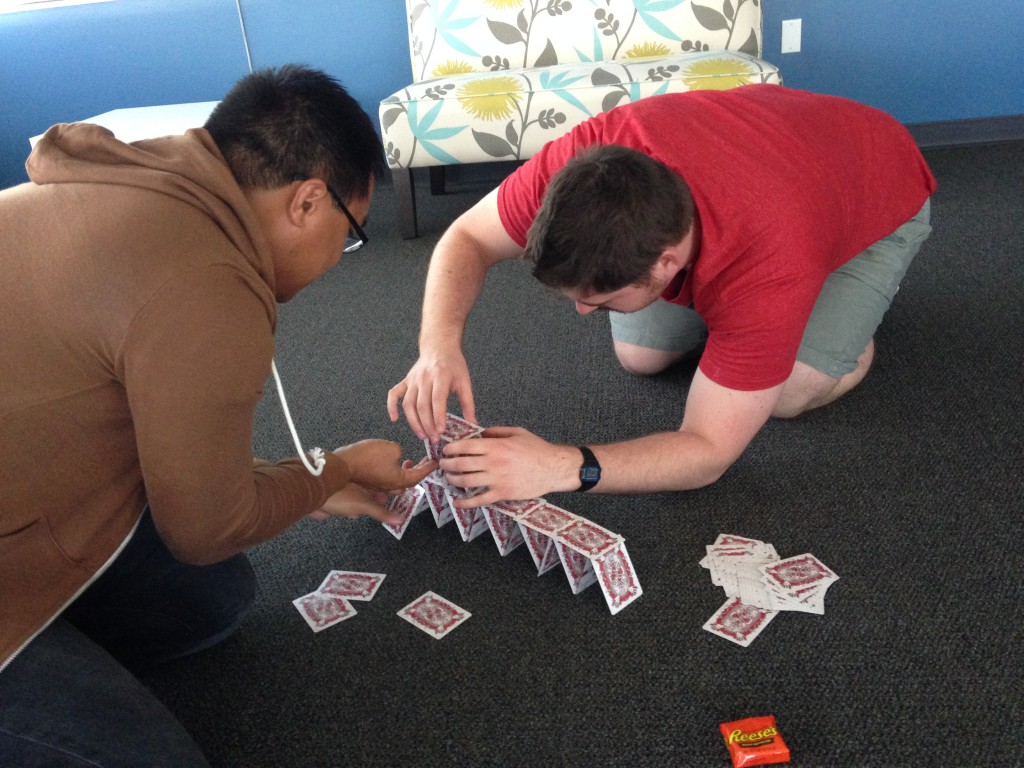 Playing-card construction, not just for bored kids anymore.