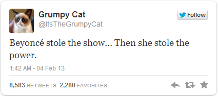 Grumpy Cat Tweet