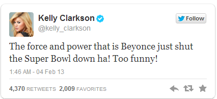 Kelly Clarkson Tweet